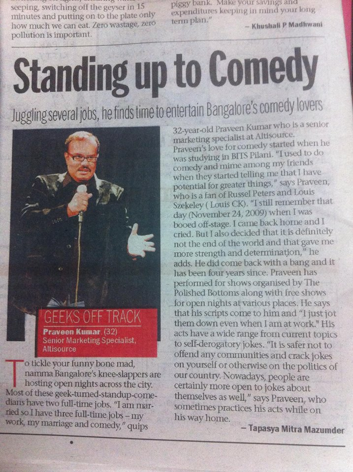 Standing up to comedy